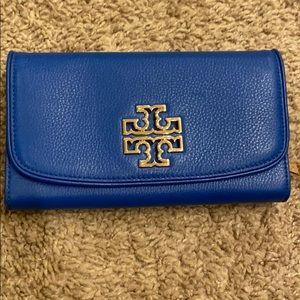 Blue Tory Burch wallet